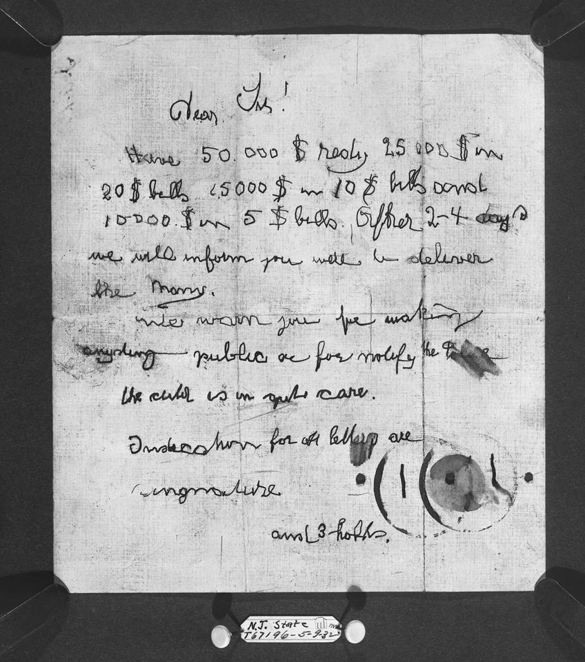 Lindbergh Ransom Note