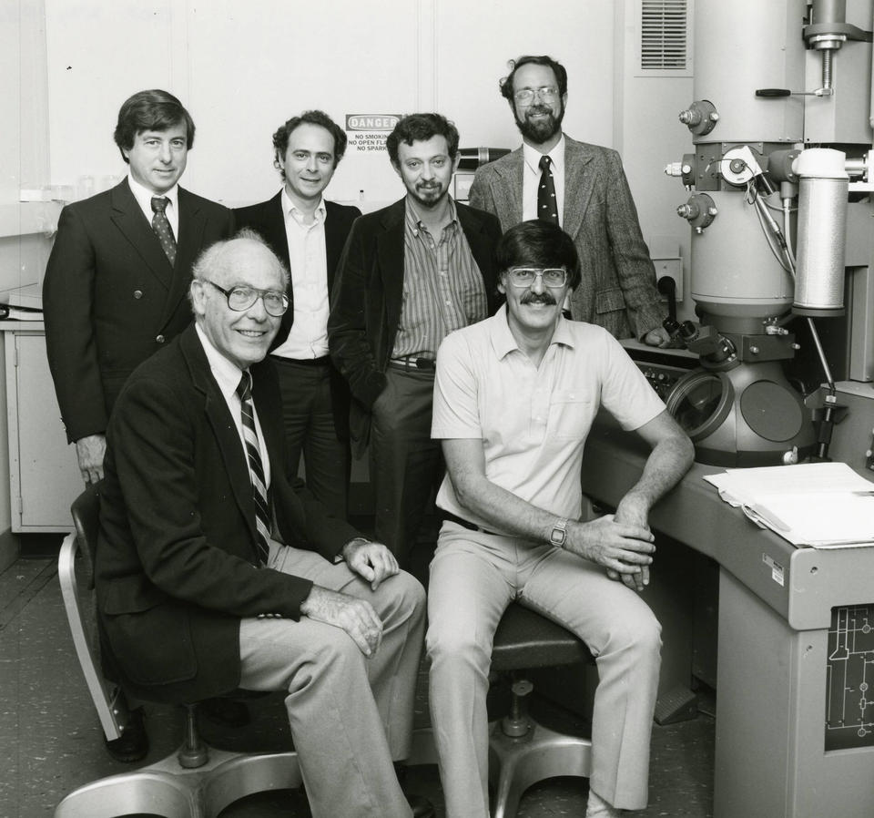 John Cahn and Dan Shechtman with Collaborators on Quasicrystals in 1985