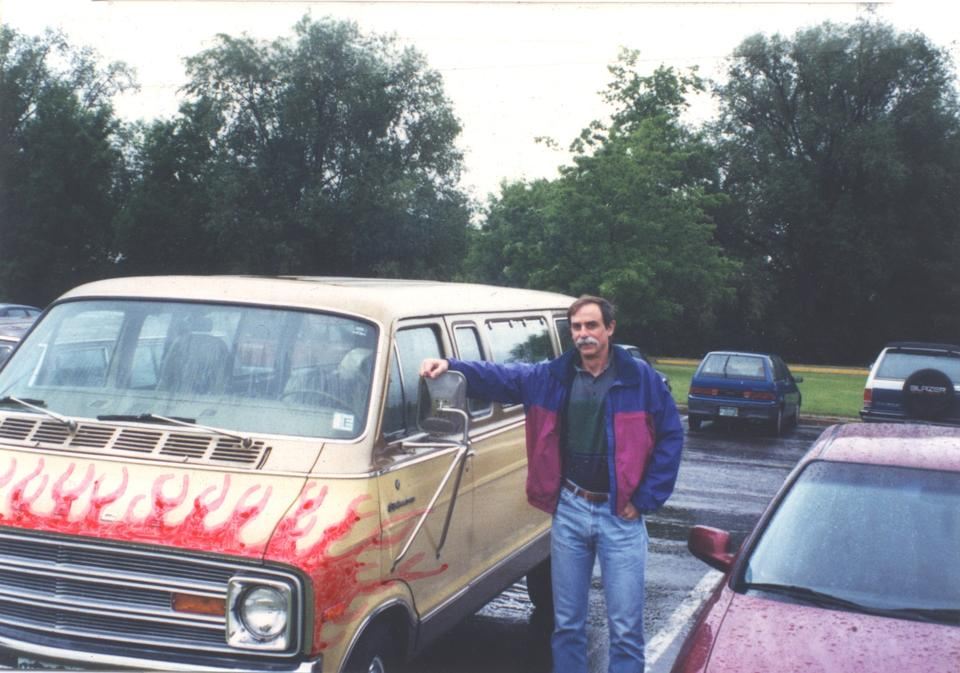 David Wineland with 1975 Dodge Van