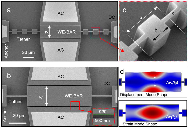 A micromechanical bulk acoustic resonator that uses phononic crystal tethers to achieve a quality factor approaching the fundamental dissipation limit (fxQ can be as large as 1.2 x 1013 Hz)