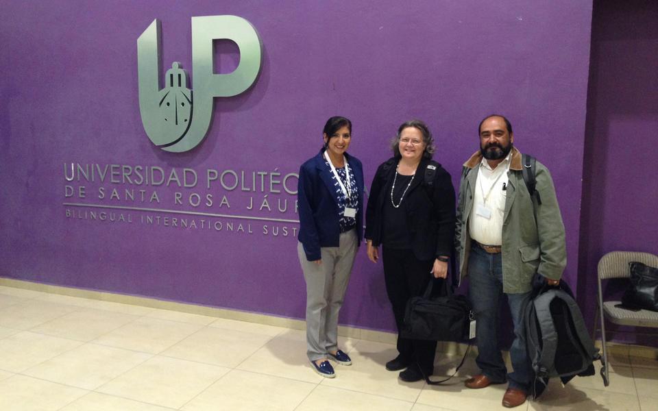 Georgia Harris at UPSRJ in Querétaro, Mexico