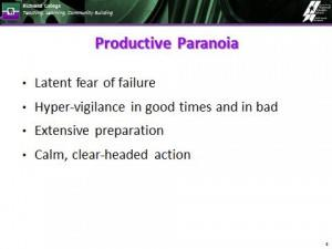 Definition of Productive Paranoia