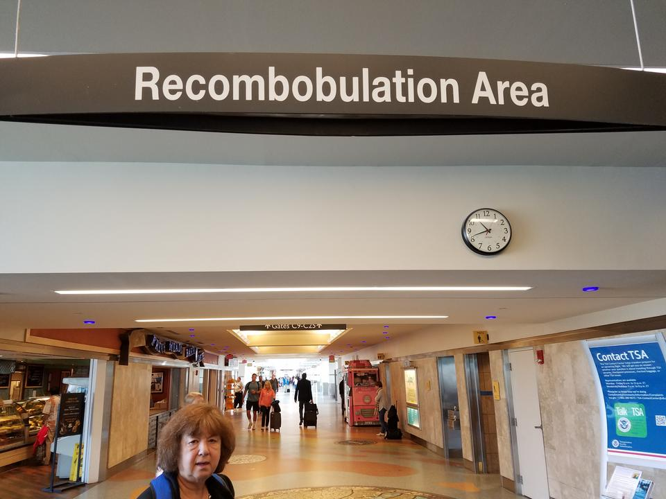 Milwaukee Airport Recombobulation Area