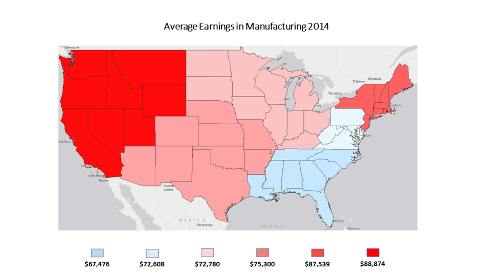 Average Earnings in Manufacturing 2014