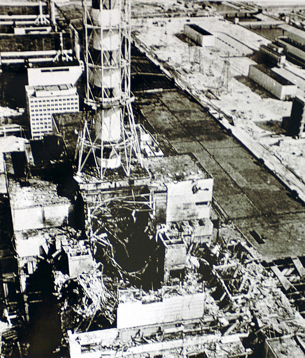 photo of the Chernobyl Unit 4 reactor