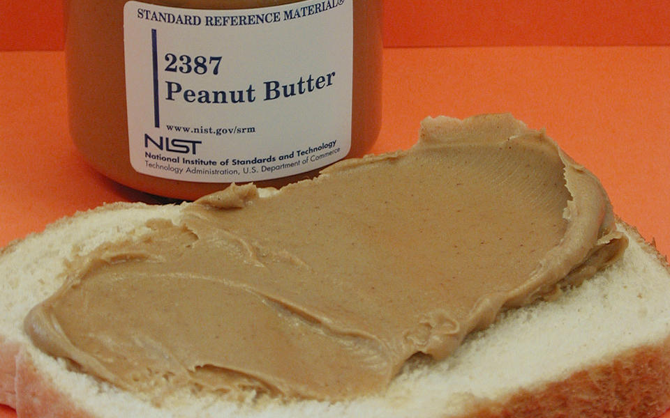 NIST SRM 2387, Peanut Butter, with white bread