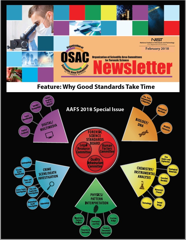 AAFS 2018 OSAC Newsletter Cover