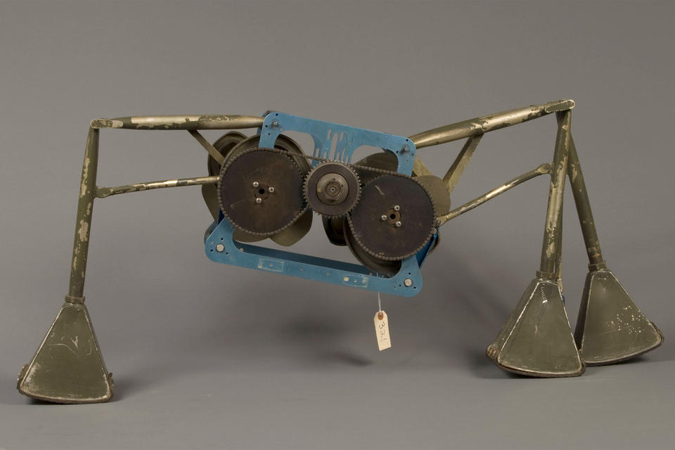 "a gearbox with multiple ""legs"" attached"