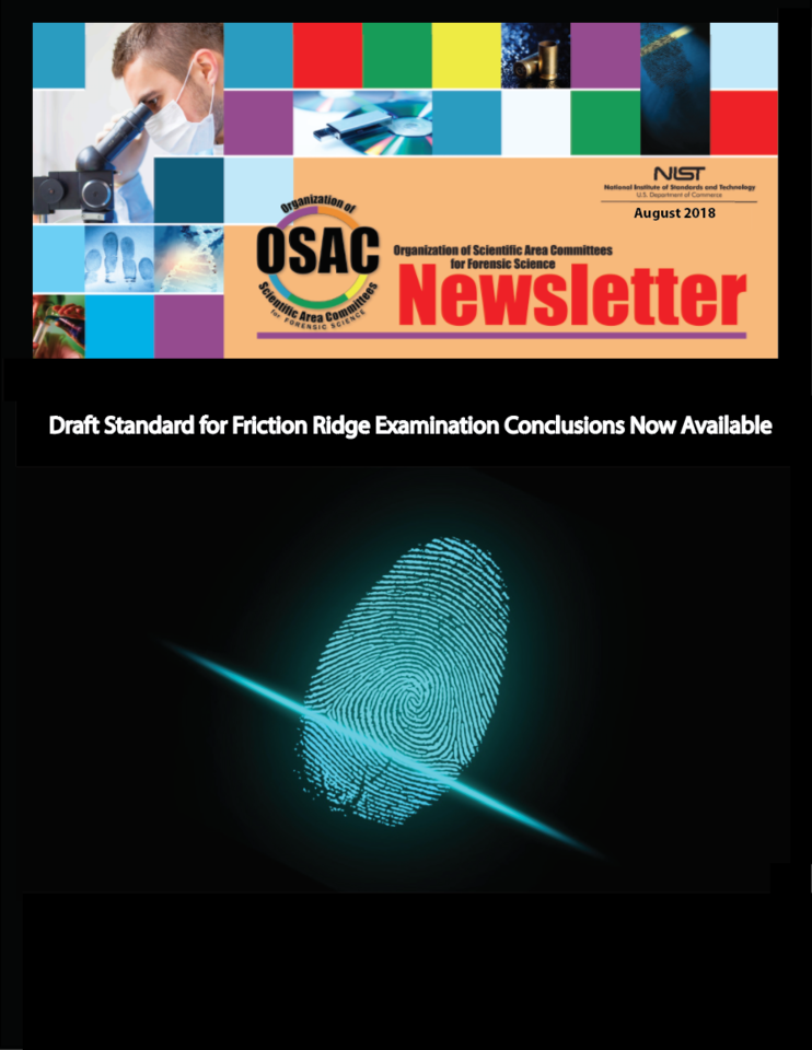 OSAC Newsletter August 2018 cover