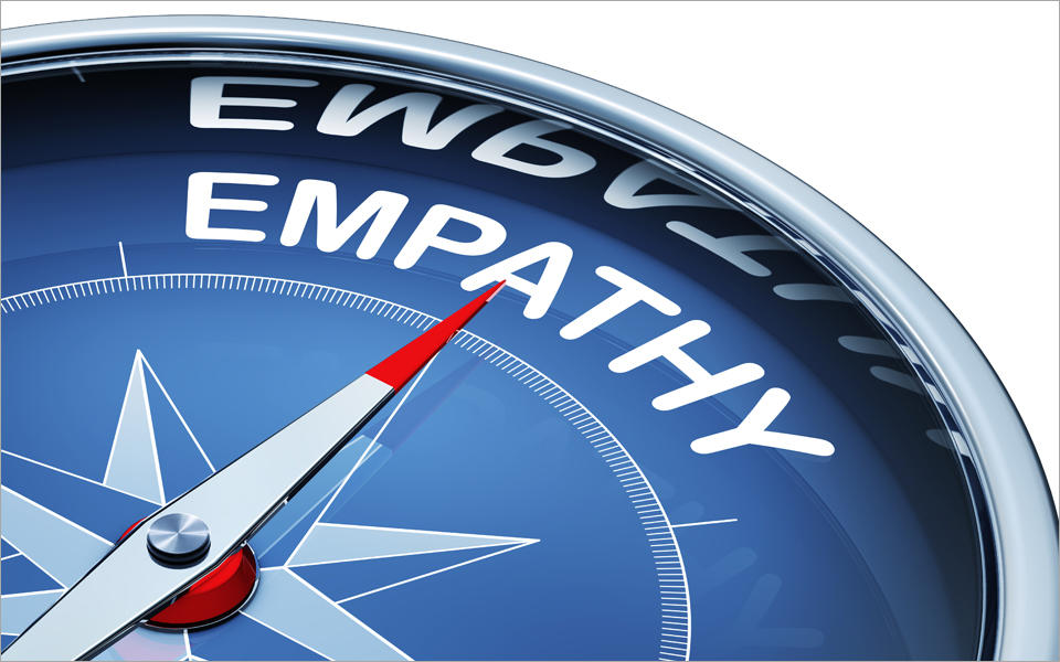 I Really Care blog image showing a compass with the word Empathy on it.
