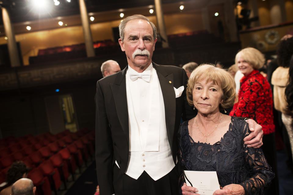 Dave and his wife, Sedna, at the Nobel Prize ceremony