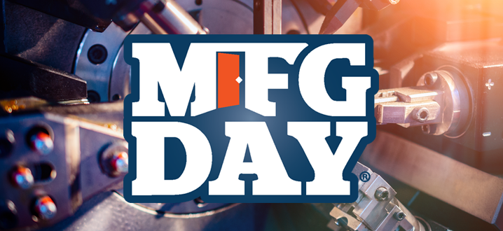 MFG Day logo on a manufacturing background