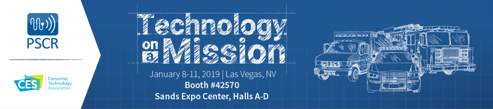 PSCR at CES 2019 banner - Technology on a Mission
