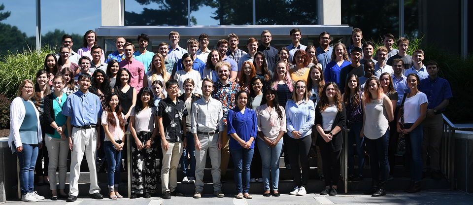 A group photo of participants in NIST's 2018 Summer Undergraduate Research Fellowship program.