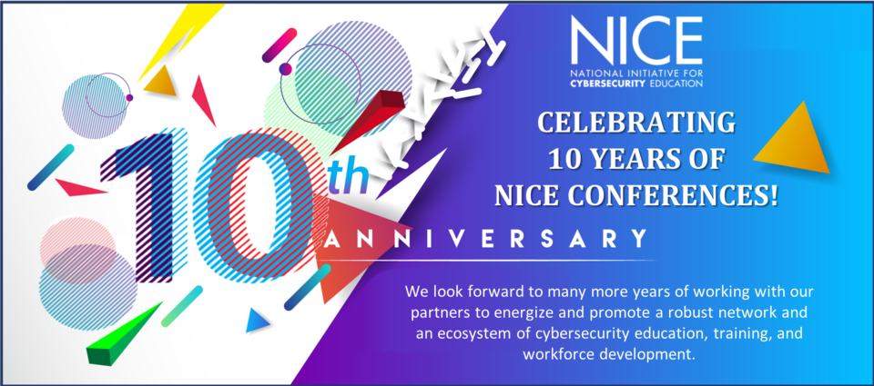 10th anniversary NICE conference banner