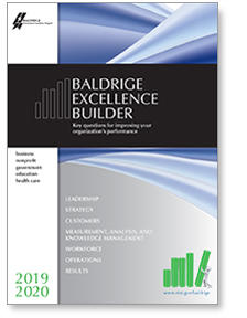 2019-2020 Baldrige Excellence Builder Cover