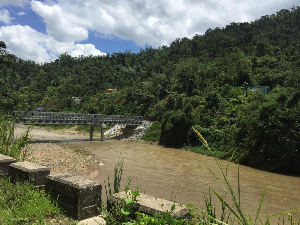 Replacement bridge across the Rio de Caguana in Utuado, Puerto Rico