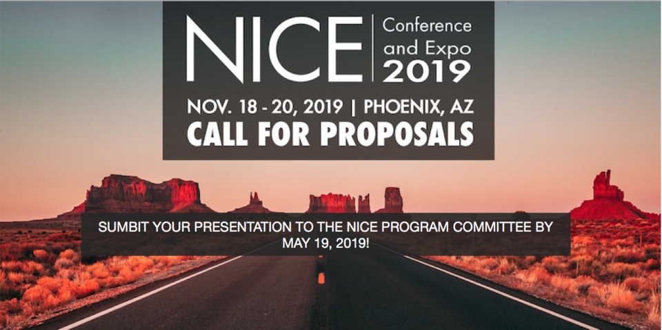2019 NICE Conference Call for Proposals