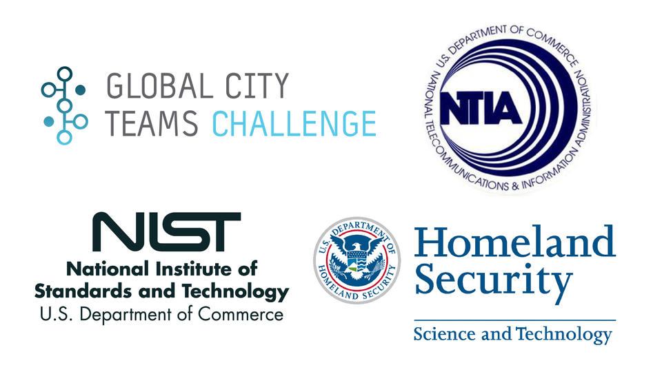 Text logos for GCTC, NTIA, NIST, Homeland Security