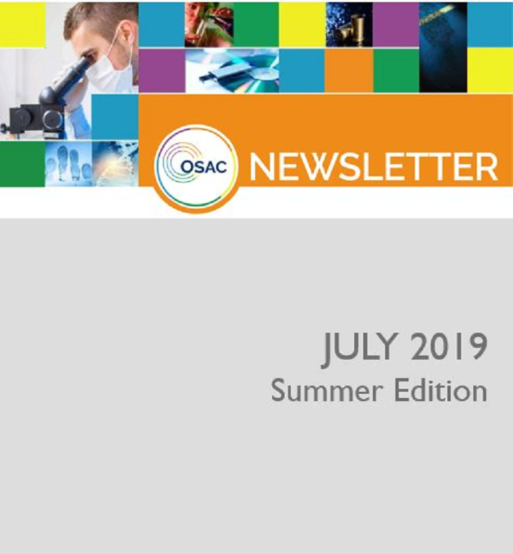 OSAC July 2019 Newsletter cover