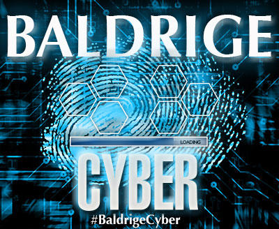 Baldrige Cybersecurity text showing loading icon.