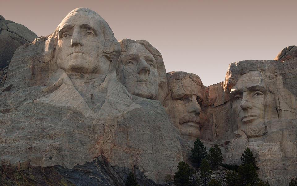 Photo of Mount Rushmore in South Dakota.