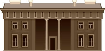Clip art image of brown building