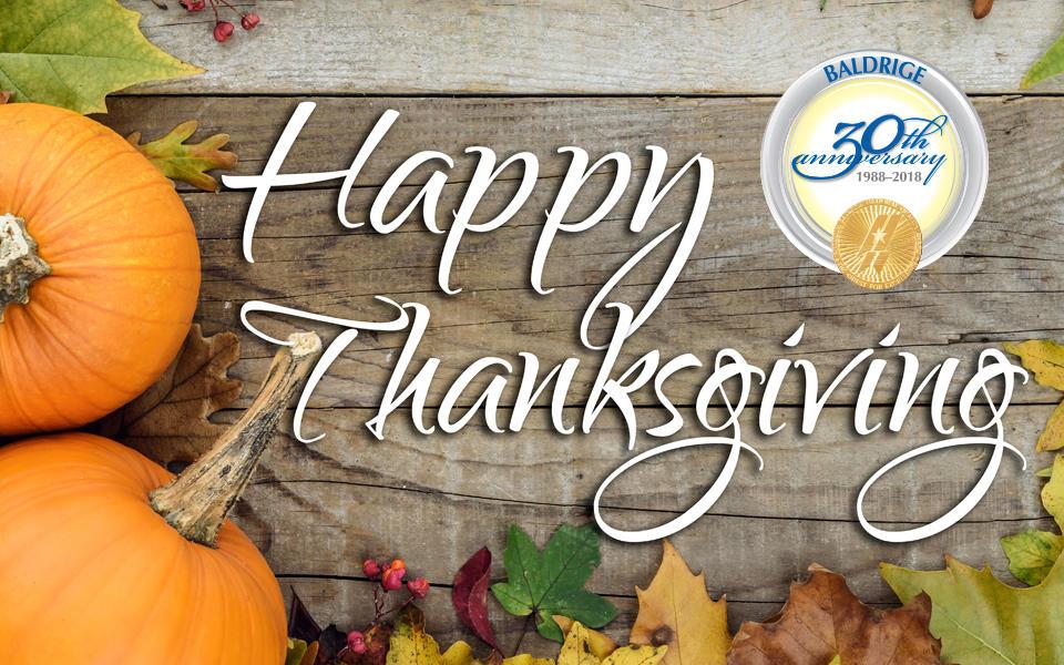Happy Thanksgiving >> Happy Thanksgiving From The Baldrige Program Nist
