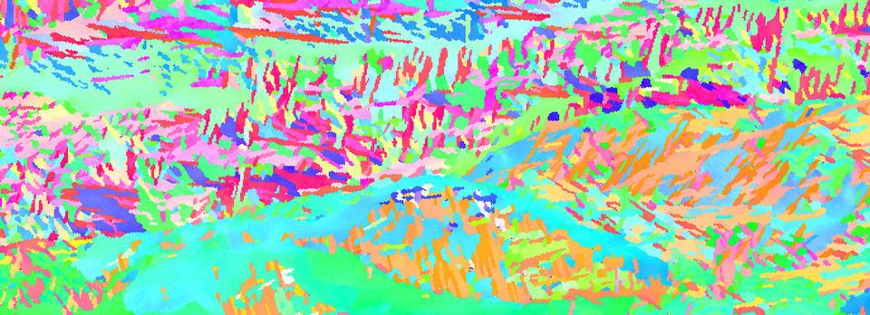 Pink, green, orange, blue abstract pattern
