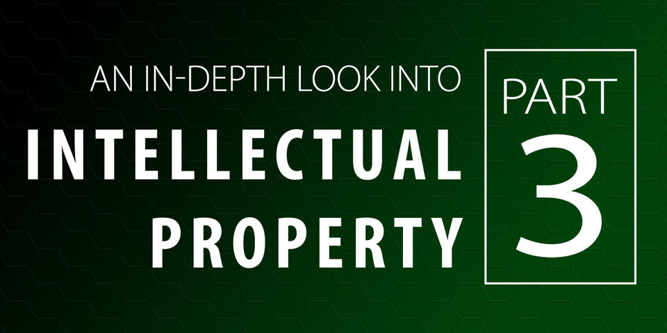Banner image with text that says An In-Depth Look Into Intellectual Property: Part 3