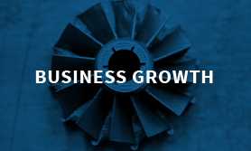 business growth wiht a gear in the background