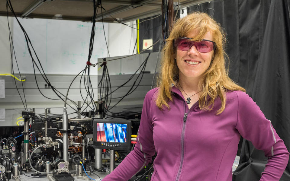 NIST physicist Elizabeth Donley and Compact Atomic Clock
