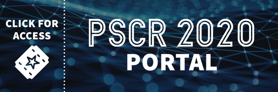 "Picture of a ticket that reads ""PSCR 2020 Portal: Click for access"""