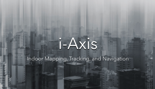 "This image shows the white text ""i-Axis"""