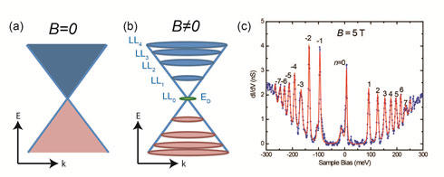 Measuring The Magneto Electronic Properties Of Graphene On