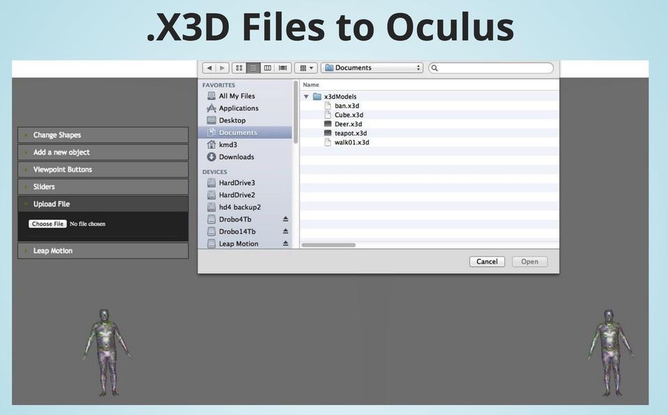 X3D to Oculus tool