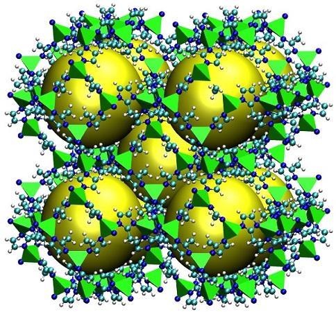 Schematic Structure of a Metal Organic Framework (ZIF-8)
