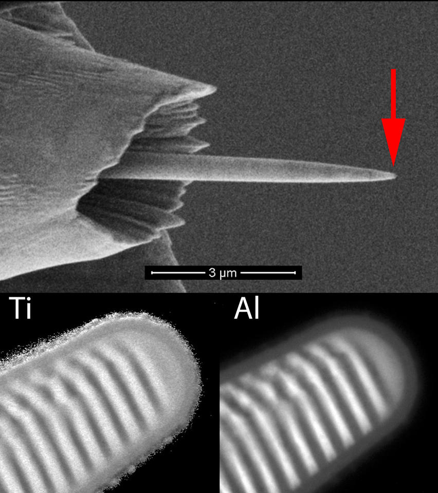 Bonevich: montage of tomography sample (Ti Al multilayer)