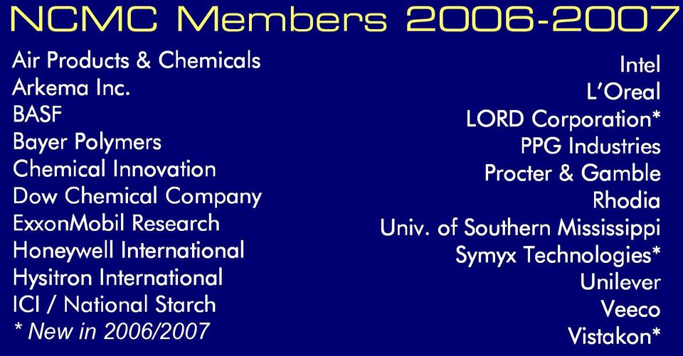 Graphic of NCMC Membership 2006-2007