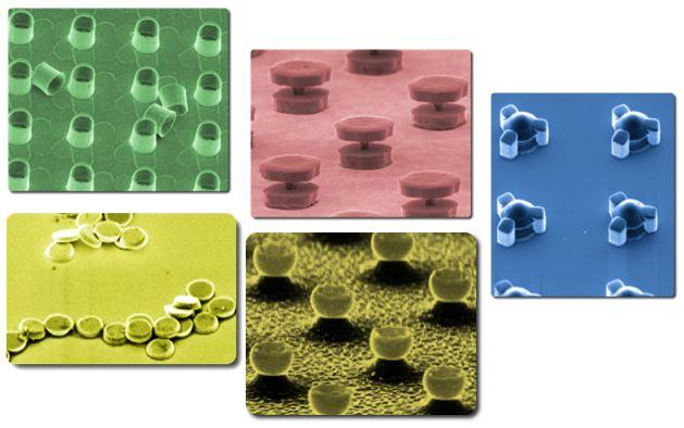 microfabricated magnetic particles