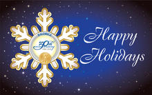 Happy Holidays from the Baldrige Program artwork showing a snowflake with the 30th Anniversary logo in the middle.