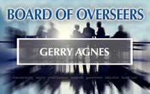 Photo of Board of Overseer Gerry Agnes.