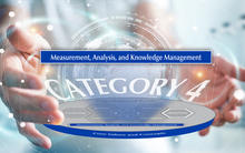 2019-2020 Baldrige Excellence Framework Criteria Overview highlighting the Measurement, Analysis, and Knowledge Management item.