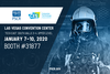 "This image shows a firefighter with a blue overlay with the PSCR and CES logo with the text: ""Las Vegas Convention Center Tech East South Halls 3-4, Upper Level, January 7-10, 2020 Booth #31877"