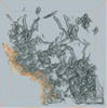 Three-dimensional view of carbon nanostructures grown on the surface of a glass fiber