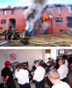 The New York City Fire Department, NIST and Underwriters Laboratories set fire to 20 abandoned townhouses on Governors Island, New York