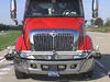 Photo of the front of a truck cab that has been instrumented for NIST tests of collision warning systems.