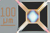 Illustration of a new chemical sensor that is comprised of 16 microheater elements and eight types of sensors