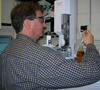 Candid portrait of Thomas Bruno using GC-MS on biofuel sample