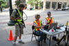 Photo of NIST team conducting wireless communication tests in Denver